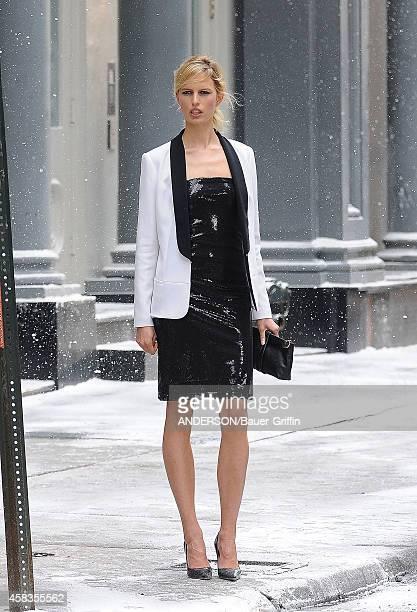 Karolina Kurkova is seen at photo shoot on May 04 2012 in New York City