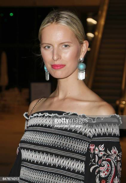 Karolina Kurkova is seen at the grand opening of the Estefan Kitchen restaurant at the Palm Court in the Design District on March 3 2017 in Miami...