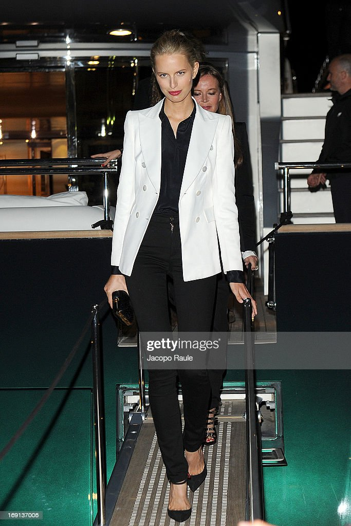 <a gi-track='captionPersonalityLinkClicked' href=/galleries/search?phrase=Karolina+Kurkova&family=editorial&specificpeople=202513 ng-click='$event.stopPropagation()'>Karolina Kurkova</a> is seen during The 66th Annual Cannes Film Festival on May 20, 2013 in Cannes, France.