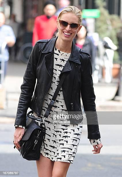 Karolina Kurkova is seen in Tribeca on April 19 2013 in New York City