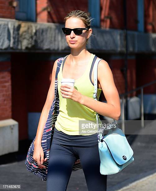 Karolina Kurkova is seen in Tribeca on June 24 2013 in New York City