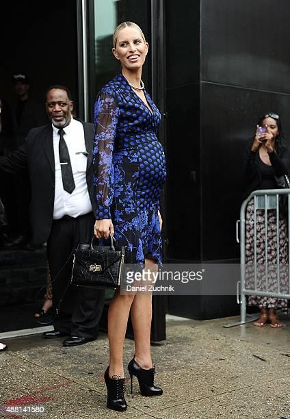 Karolina Kurkova is seen outside the DVF show on September 13 2015 in New York City