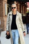 Karolina Kurkova is seen walking in TriBeCa on May 7 2014 in New York City