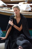 Karolina Kurkova is seen while filming for the International Watch Company on May 16 2014 in Portofino Italy