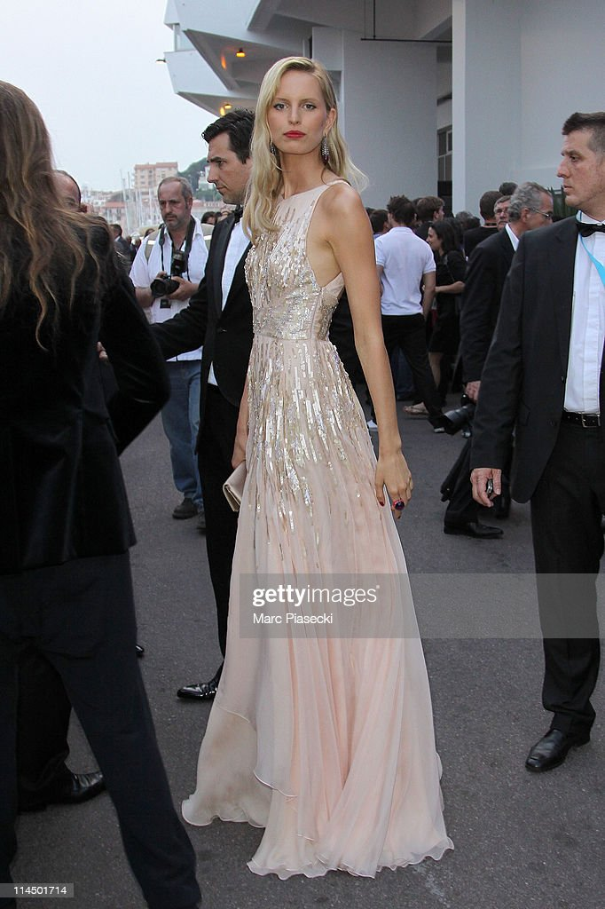 Karolina Kurkova is sighted leaving the 'Palais des Festivals' after the 'Palme d'Or' ceremony on May 22, 2011 in Cannes, France.