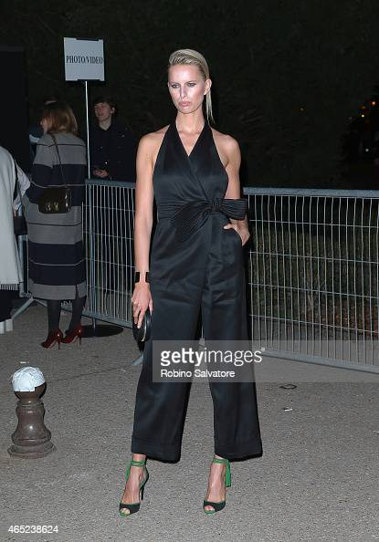 Karolina Kurkova seen during Paris Fashion Week Autumn/Winter 2015/2016 on March 4 2015 in Paris France