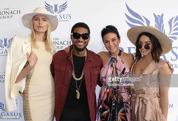 Karolina Kurkova Usher Raymond Emmanuelle Chriqui and Vanessa Hudgens attend The Inaugural $12 Million Pegasus World Cup Invitational The World's...
