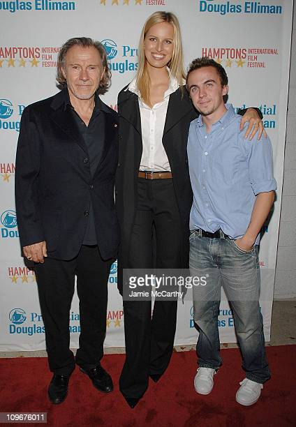 Karolina KurkovaHarvey Keitel and Frankie Muniz arrive at the Hamptons Film Festival Screening My Sexiest Year Red Carpet at the United Artists...