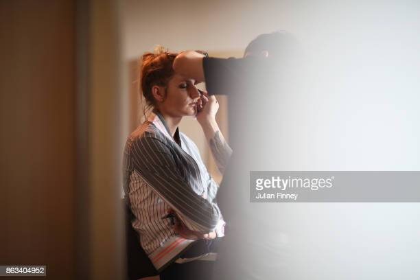 Karolina Pliskova of Czech Republic attends the Style suite prior to the Official Draw Ceremony and Gala of the BNP Paribas WTA Finals Singapore...