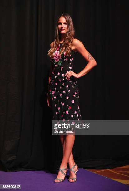 Karolina Pliskova of Czech Republic poses during the Official Draw Ceremony and Gala of the BNP Paribas WTA Finals Singapore presented by SC Global...