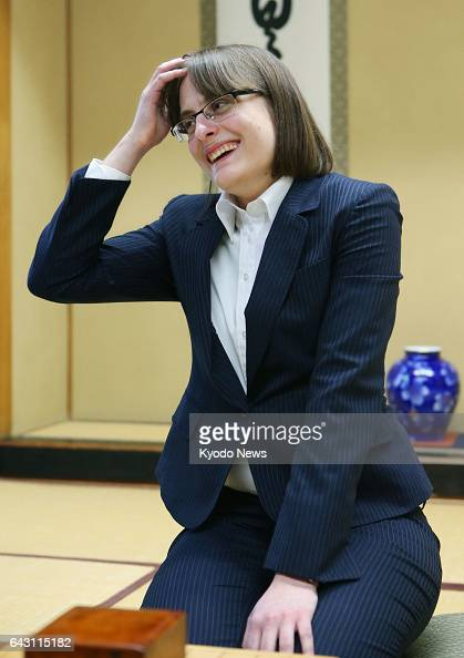 Karolina Styczynska a 25yearold Polish woman speaks to reporters in Tokyo on Feb 20 after becoming the first foreign female professional player of...