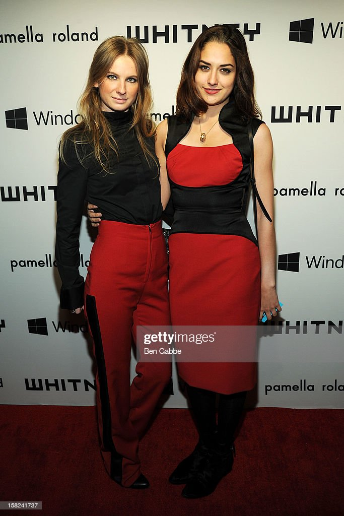Karolina Zmarlak and Jenna Elizabeth attend Whitney Museum of American Art's 2012 Studio Party at The Whitney Museum of American Art on December 11, 2012 in New York City.