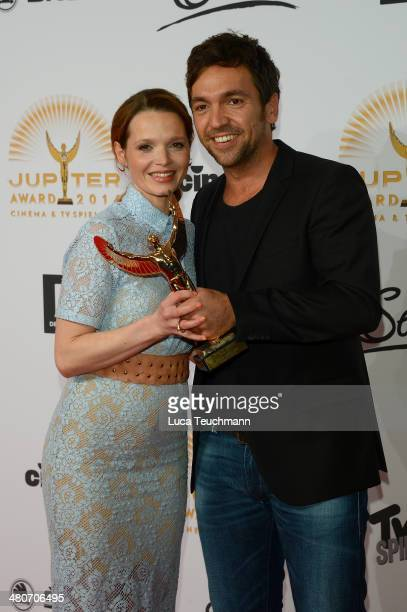 Karoline Herfurth and Bora Dagtekin attend 'Jupiter Award 2014' at Cafe Moskau on March 26 2014 in Berlin Germany