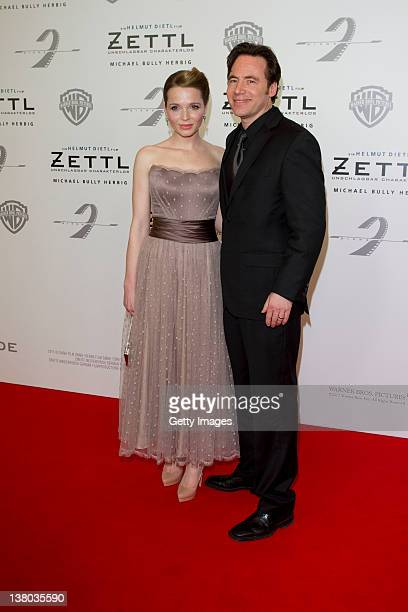 Karoline Herfurth and Michael Bully Herbig attend the premiere of 'Zettl' at the Mathaeser Filmpalast on January 31 2012 in Munich Germany