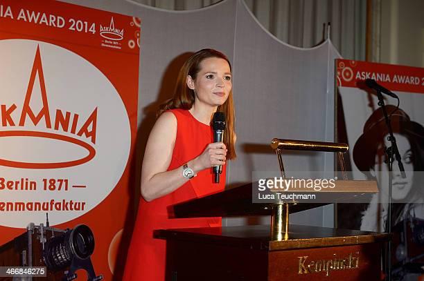 Karoline Herfurth attends Askania Award 2014 at Kempinski Hotel Bristol on February 4 2014 in Berlin Germany