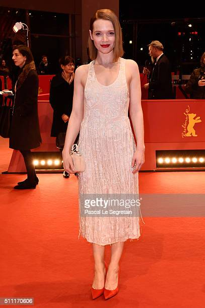 Karoline Herfurth attends the 'Hommage For Michael Ballhaus' during the 66th Berlinale International Film Festival Berlin at Grand Hyatt Hotel on...