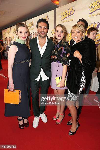 Karoline Herfurth Elyas M'Barek Jella Haase and Uschi Glas during the world premiere of 'Fack ju Goehte 2' at Mathaeser Kino on September 7 2015 in...