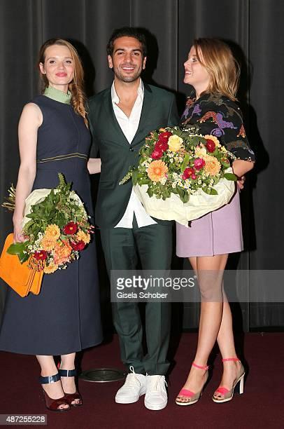 Karoline Herfurth Elyas M'Barek Jella Haase during the world premiere of 'Fack ju Goehte 2' at Mathaeser Kino on September 7 2015 in Munich Germany