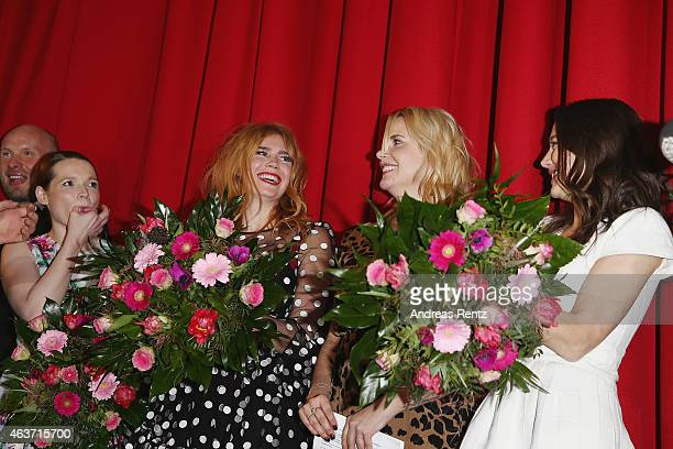 Karoline Herfurth Palina Rojinski Anika Decker and Hannah Herzsprung attend the Traumfrauen premiere at CineStar on February 17 2015 in Berlin Germany