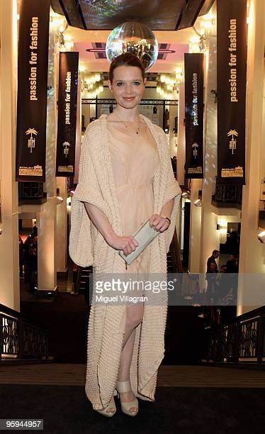 karoline Herfurth poses prior to the Michalsky Style Night Fashion Show at Friedrichstadtpalast on January 22 2010 in Berlin Germany