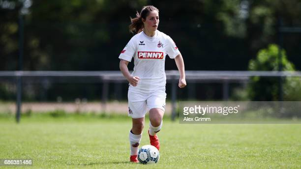 Karoline Kohr of Koeln controles the ball during the Second Bundesliga Women South match between FFC Niederkirchen and 1 FC Koeln on May 21 2017 in...
