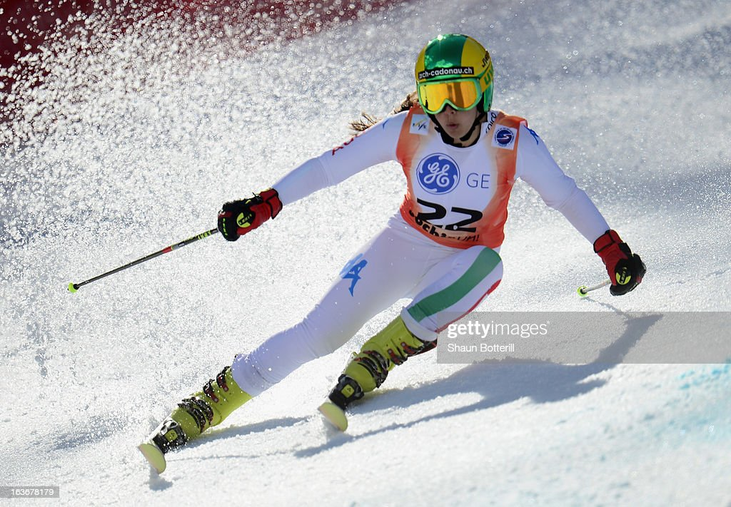Karoline Pichler of Italy competes in the Ladies' Giant Slalom at Rosa Khutor Alpine Center on March 14, 2013 in Sochi, Russia.