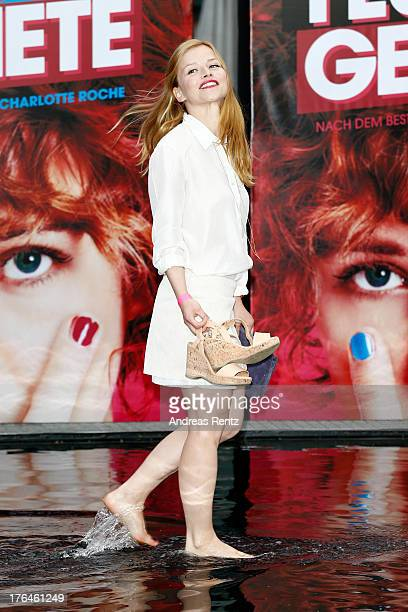 Karoline Schuch attends 'Feuchtgebiete' Germany Premiere at Sony Centre on August 13 2013 in Berlin Germany
