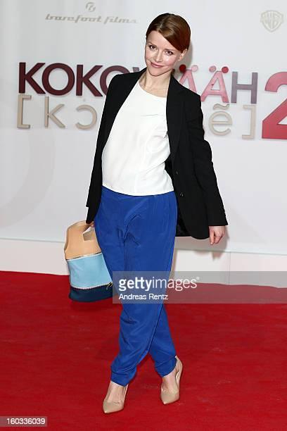 Karoline Schuch attends 'Kokowaeaeh 2' Germany Premiere at Cinestar Potsdamer Platz on January 29 2013 in Berlin Germany