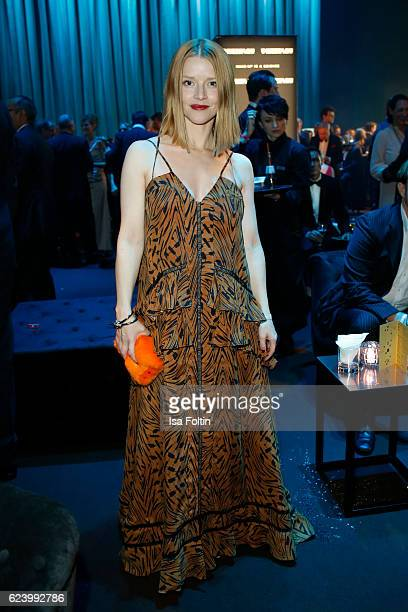 Karoline Schuch poses at the Bambi Awards 2016 party at Atrium Tower on November 17 2016 in Berlin Germany