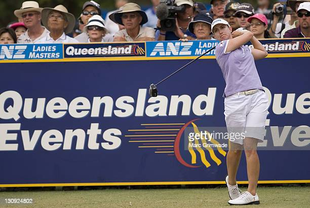 Karrie Webb during the final round of the ANZ Ladies Masters at Royal Pines on the Gold Coast Australia on February 11 2007