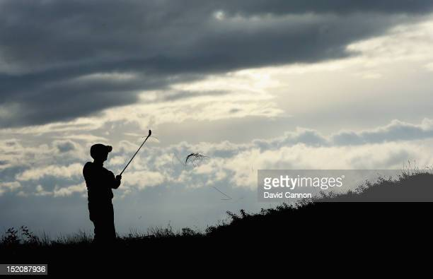 Karrie Webb of Australia hits her 2nd shot on the 14th hole during the third round of the Ricoh Women's British Open at Royal Liverpool Golf Club on...