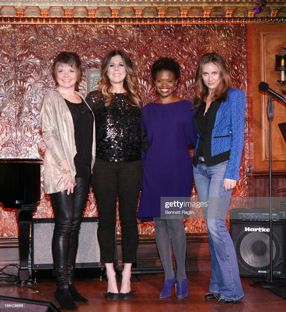 Karrin Allyson, <a gi-track='captionPersonalityLinkClicked' href=/galleries/search?phrase=Laura+Benanti&family=editorial&specificpeople=657897 ng-click='$event.stopPropagation()'>Laura Benanti</a>, Lachanze and <a gi-track='captionPersonalityLinkClicked' href=/galleries/search?phrase=Rita+Wilson&family=editorial&specificpeople=202642 ng-click='$event.stopPropagation()'>Rita Wilson</a> attend the Press Preview at 54 Below on April 12, 2013 in New York City.