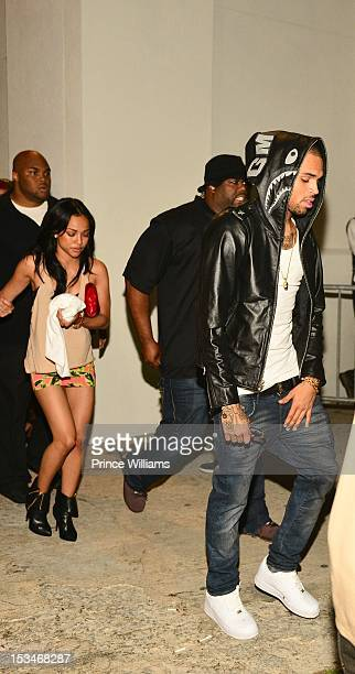 Karrueche Tran and Chris Brown attend the BET Hip Hop Awards 2012 after party at Club Compound on September 29 2012 in Atlanta Georgia