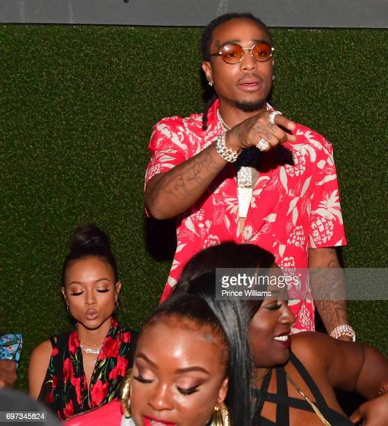 Karrueche Tran and Quavo of the Group Migos attend The Birthday Bash After Party Featuring the Migos at Compound on June 18 2017 in Atlanta Georgia