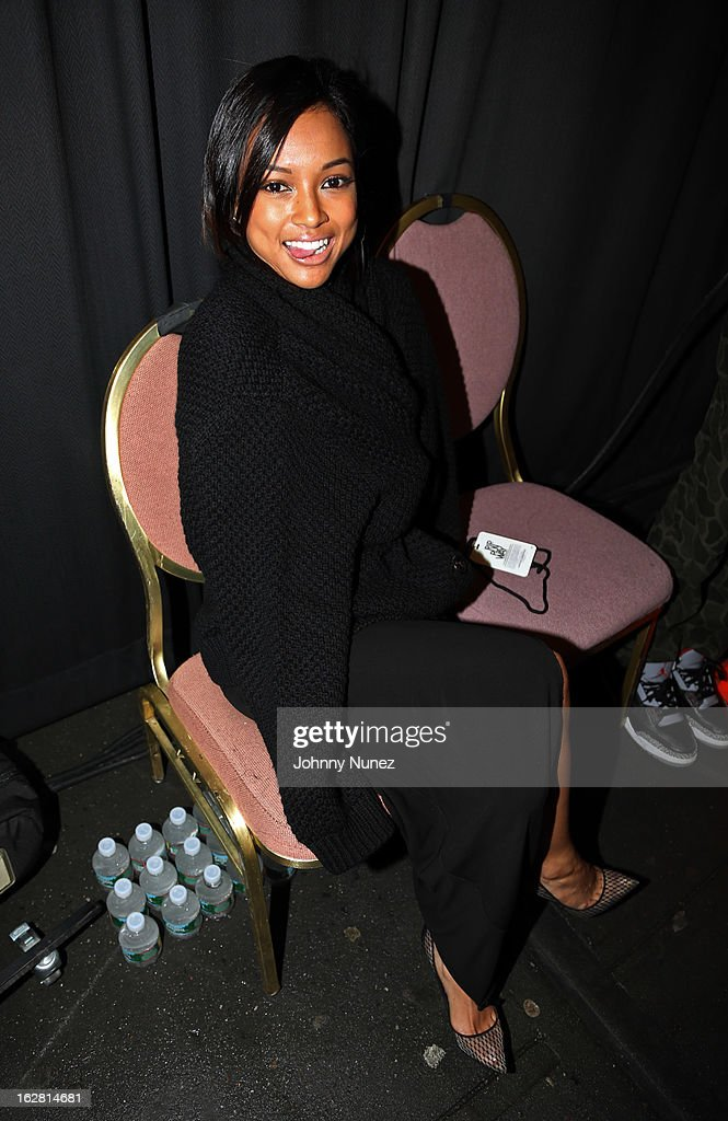 Karrueche Tran attends BET's Rip The Runway 2013 at Hammerstein Ballroom, on February 27, 2013, in New York City.