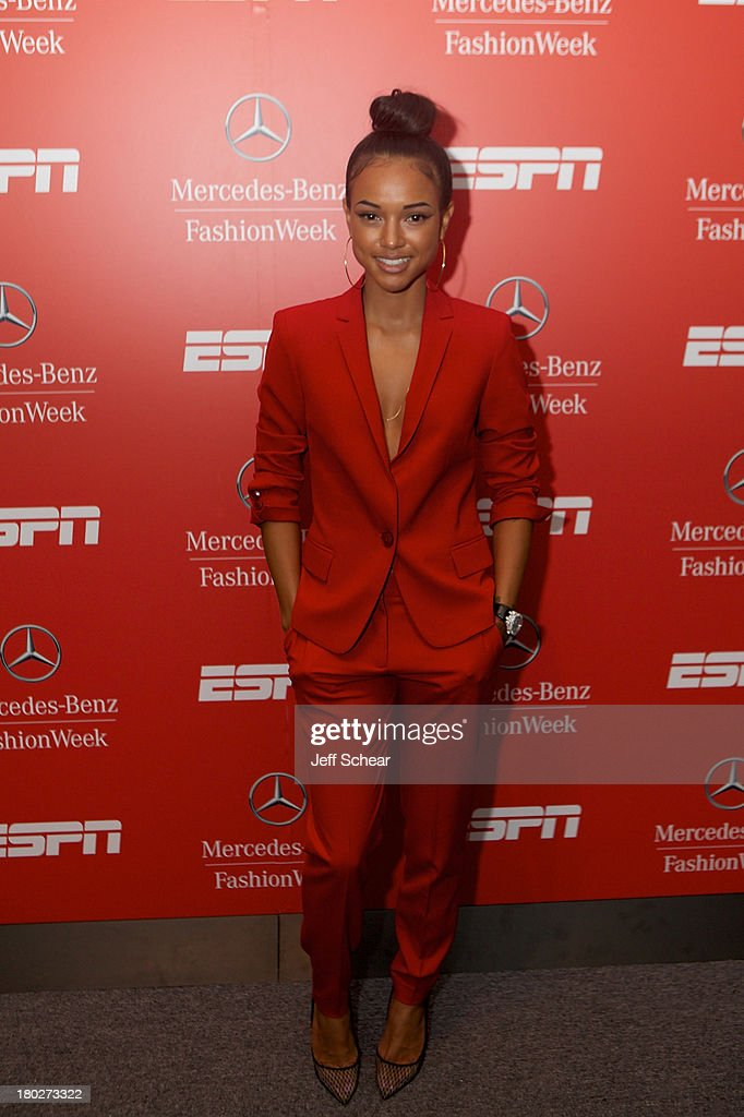 Karrueche Tran attends ESPN Fashion Week - Revenge of the Jocks at The Box at Lincoln Center on September 10, 2013 in New York City.
