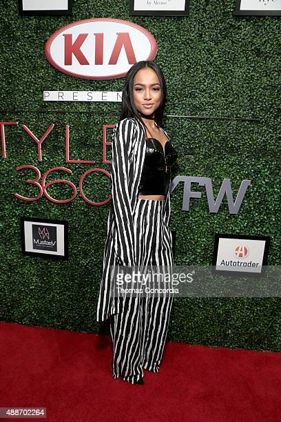 Karrueche Tran attends KIA STYLE360 hosts Tumbler and Tipsy by Michael Kuluva on September 16 2015 in New York City