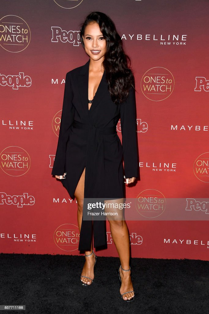 Karrueche Tran attends People's 'Ones To Watch' at NeueHouse Hollywood on October 4, 2017 in Los Angeles, California.