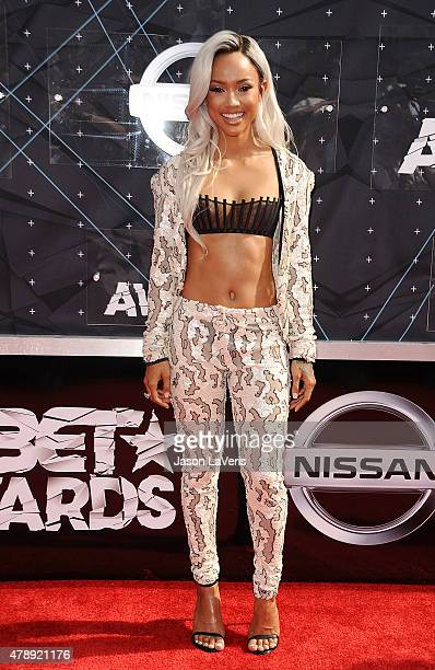 Karrueche Tran attends the 2015 BET Awards at the Microsoft Theater on June 28 2015 in Los Angeles California