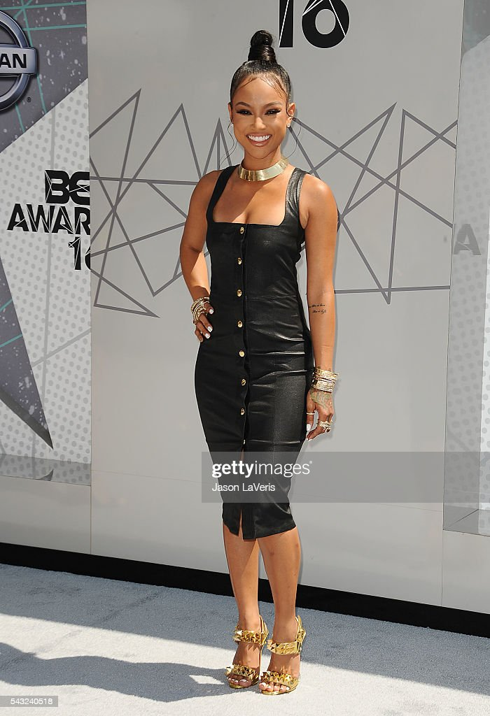 <a gi-track='captionPersonalityLinkClicked' href=/galleries/search?phrase=Karrueche+Tran&family=editorial&specificpeople=9447374 ng-click='$event.stopPropagation()'>Karrueche Tran</a> attends the 2016 BET Awards at Microsoft Theater on June 26, 2016 in Los Angeles, California.