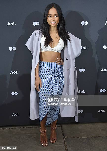 Karrueche Tran attends the AOL NewFront 2016 at Seaport District NYC on May 3 2016 in New York City