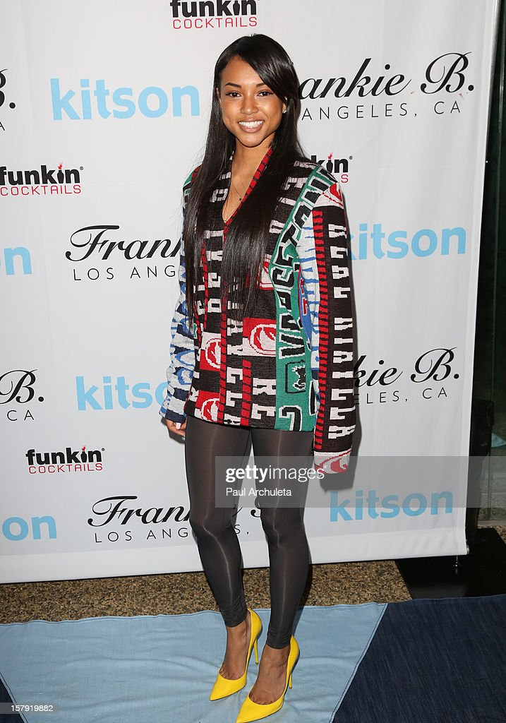 Karrueche Tran attends the Get Festive With Frankie B. and Kitson event at Kitson on Roberston on December 6, 2012 in Beverly Hills, California.