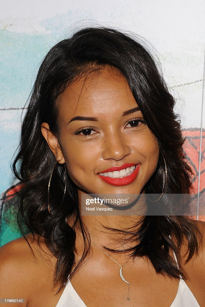 Karrueche Tran attends the Hennessy OS GEMEOS Los Angeles launch at The Emerson Theatre on September 5, 2013 in Hollywood, California.