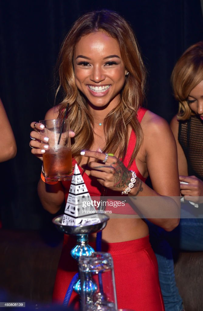Karrueche Tran attends the ultimate Memorial Day weekend celebration hosted by T.I. and Karrueche Tran at Prive at the TW Theater on May 24, 2014 in Las Vegas, Nevada.