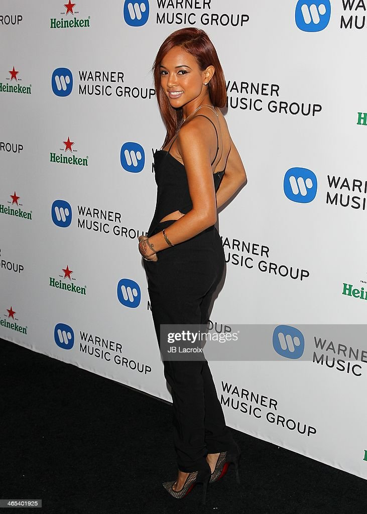 <a gi-track='captionPersonalityLinkClicked' href=/galleries/search?phrase=Karrueche+Tran&family=editorial&specificpeople=9447374 ng-click='$event.stopPropagation()'>Karrueche Tran</a> attends the Warner Music Group Hosts Annual Grammy Celebration held at Sunset Tower on January 26, 2014 in West Hollywood, California.