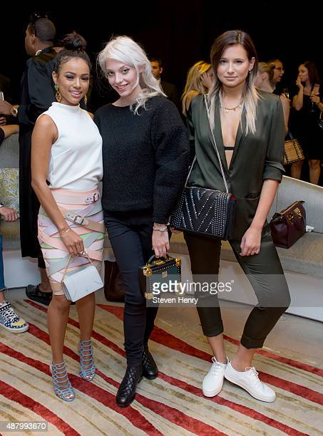 Karrueche Tran Cory Kennedy and Danielle Bernstein attend Saks Fifth Avenue Empire Fashion Week Event on September 12 2015 in New York City