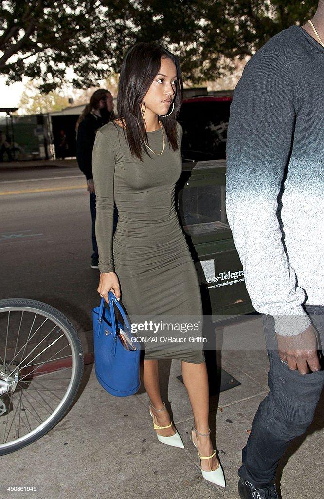 Karrueche Tran is seen on November 20, 2013 in Los Angeles, California.