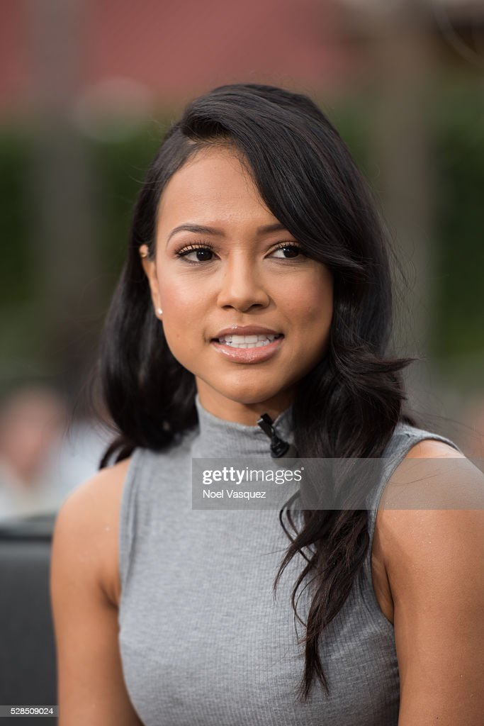 Karrueche Tran visits 'Extra' at Universal Studios Hollywood on May 5, 2016 in Universal City, California.