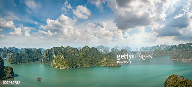 Karst Island Landscape In Halong Bay, Vietnam