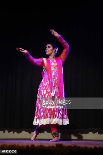 Kartika Singh performs during the Kathak show organised to celebrate World Dance Day on May 2 2017 in New Delhi India